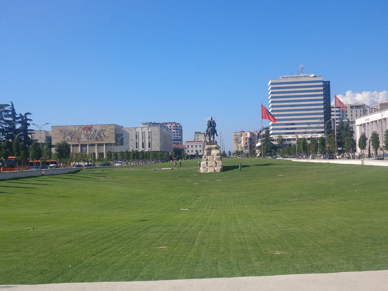 Skanderbeg Square in Tirana