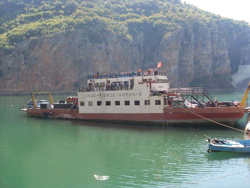travel in Koman Lake Albania